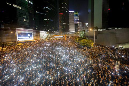 Hong Kong Umbrella Protests September 29 01